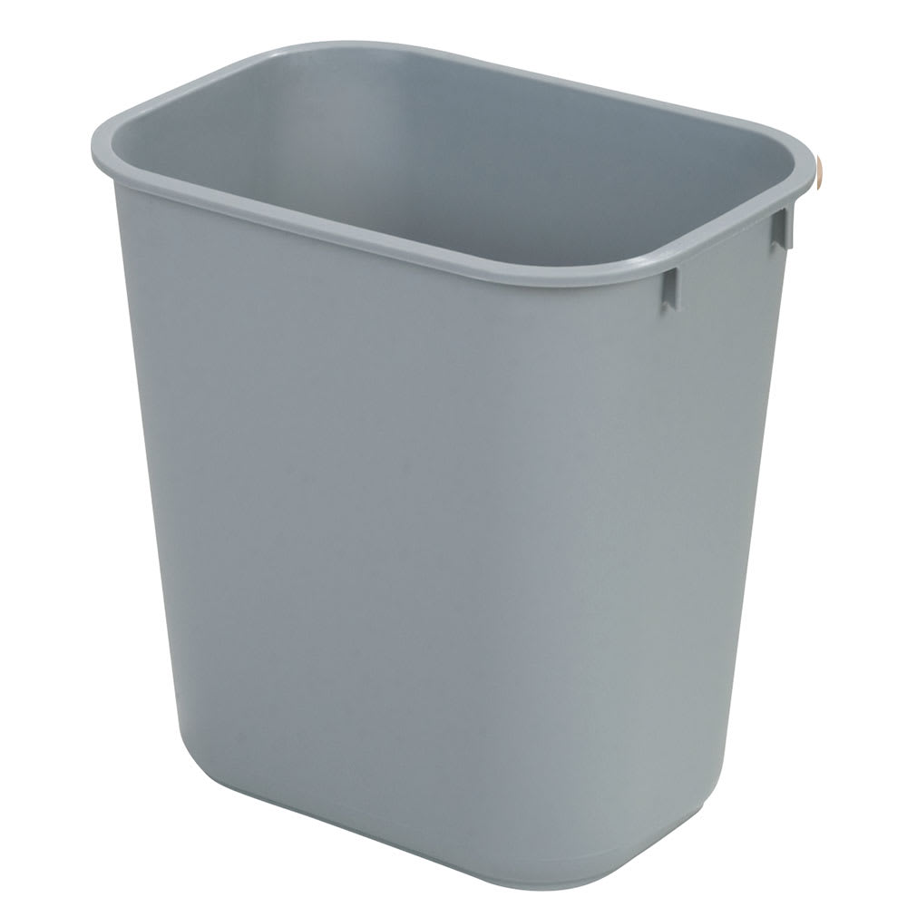 Carlisle 34292823 28-qt Rectangle Waste Basket - Plastic, Gray