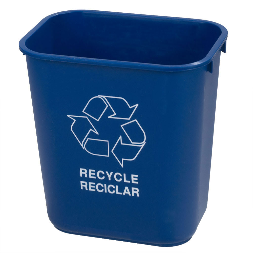 Carlisle 342928REC14 7 gal Multiple Materials Recycle Bin - Indoor