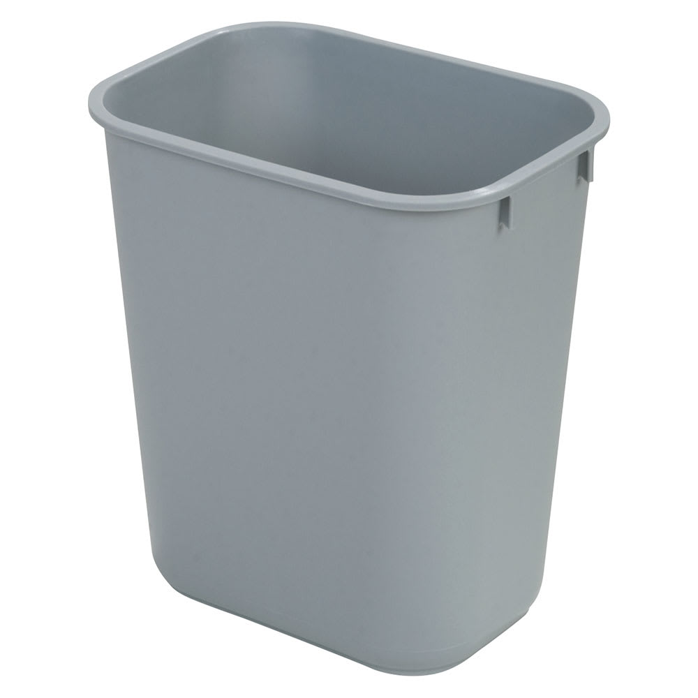 Carlisle 34294123 41.25-qt Rectangle Waste Basket - Plastic, Gray