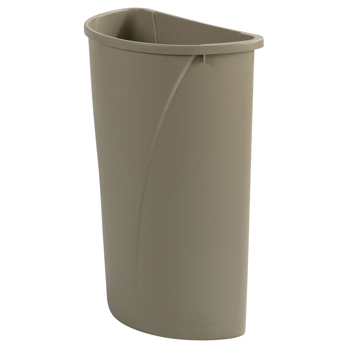 Carlisle 34302106 21 gallon Commercial Trash Can - Plastic, Half Round, Built-in Handles