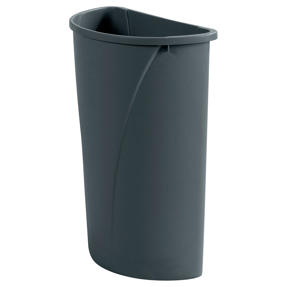Carlisle 34302123 21-gallon Commercial Trash Can - Plastic, Half Round, Built-in Handles