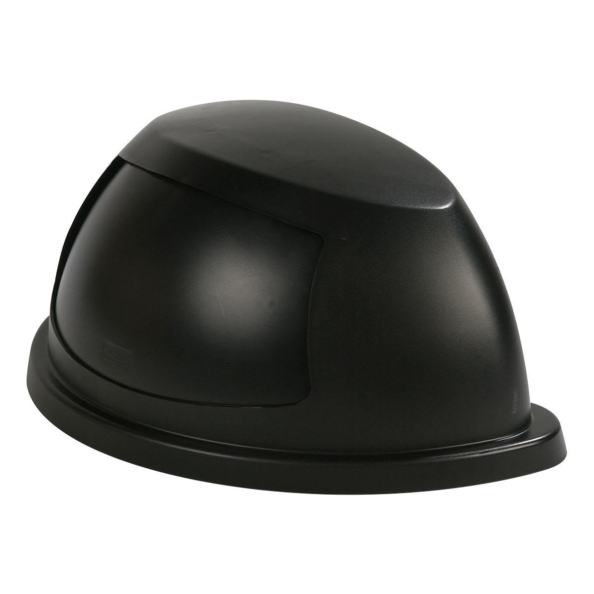 Carlisle 343022-03 Half Round Dome Trash Can Lid - Plastic, Black