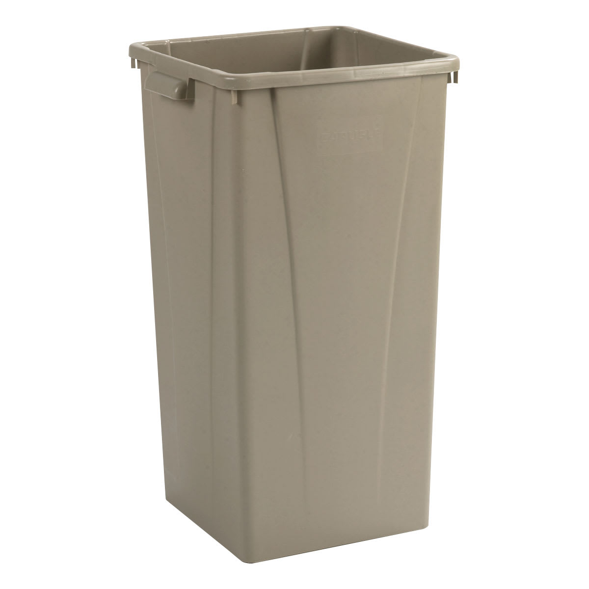 Carlisle 34352306 23 gallon Commercial Trash Can - Plastic, Square, Built-in Handles