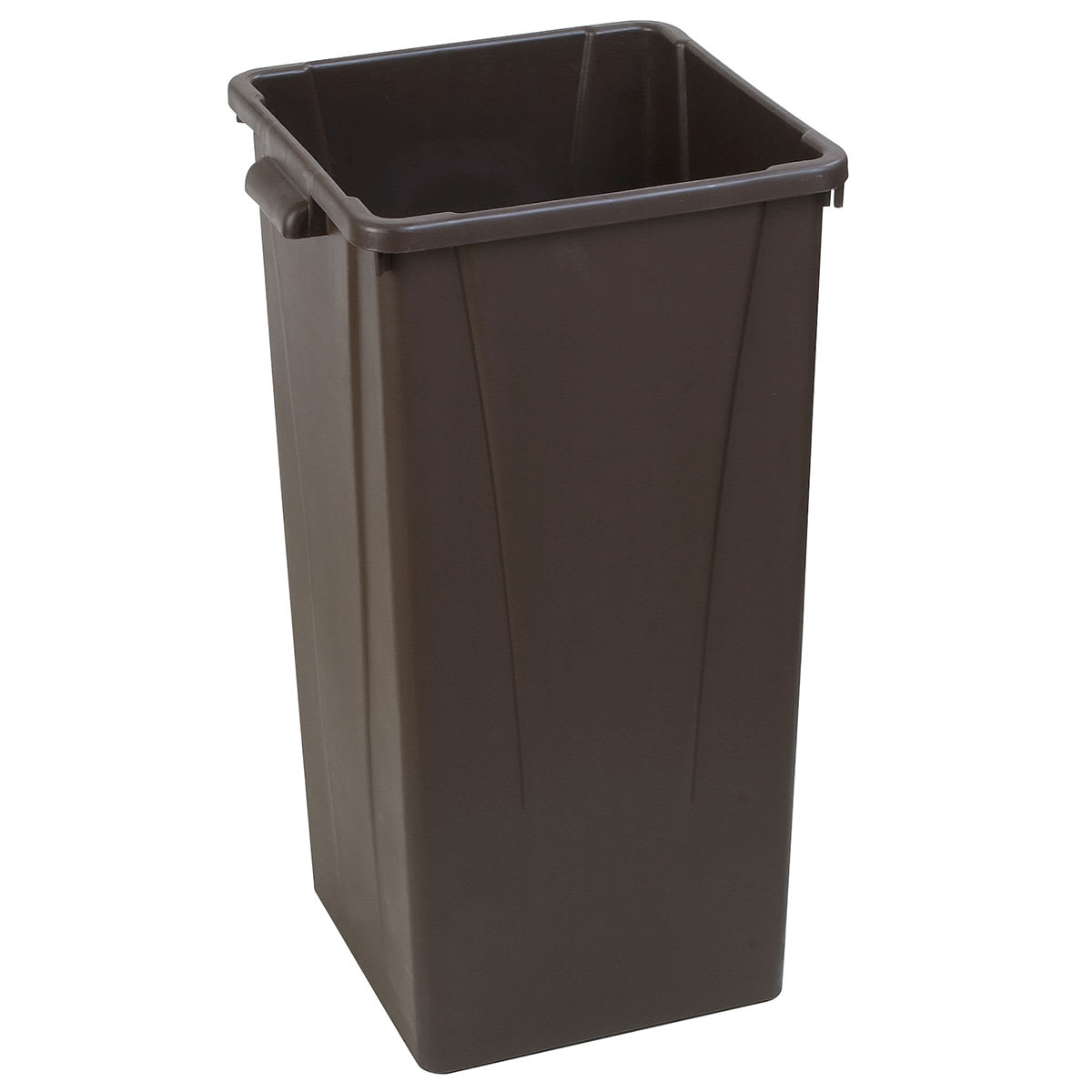 Carlisle 34352369 23-gallon Commercial Trash Can - Plastic, Square, Built-in Handles