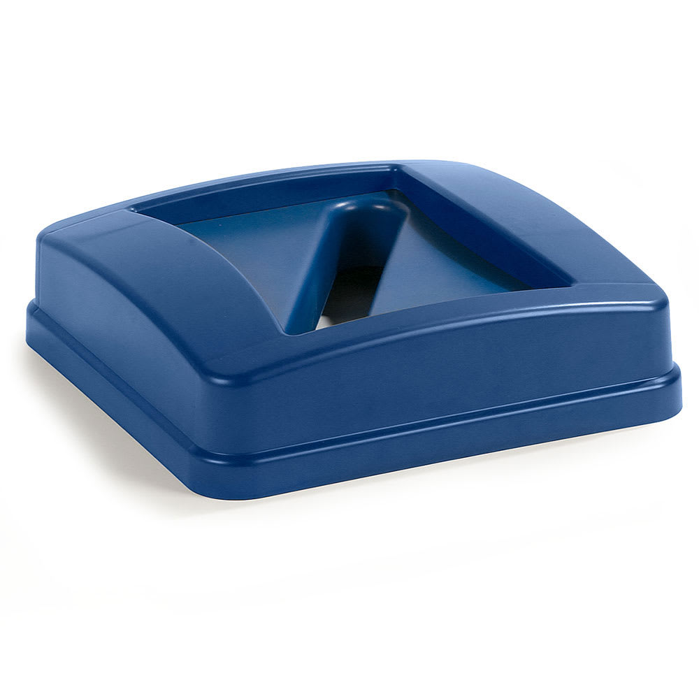 Carlisle 343526REC-14 Round Recycling Trash Can Lid - Plastic, Blue