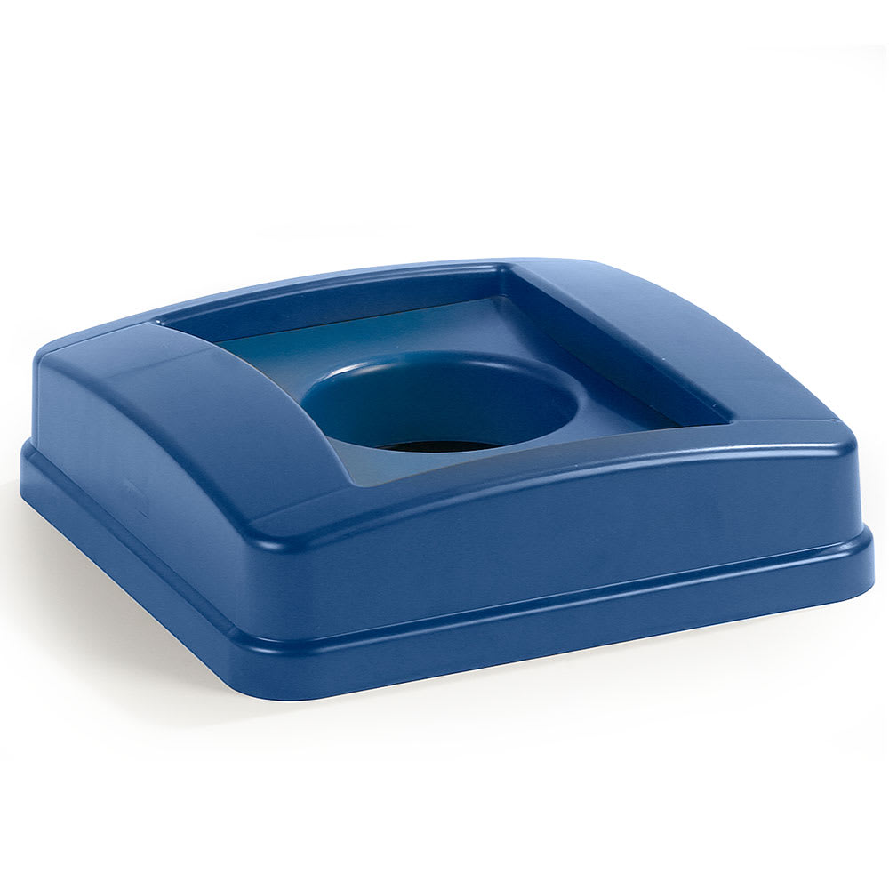 Carlisle 343527REC-14 Round Recycling Trash Can Lid - Plastic, Blue