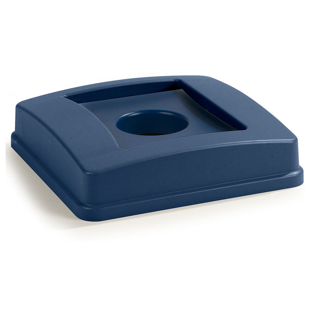 Carlisle 343936REC-14 Round Recycling Trash Can Lid - Plastic, Blue