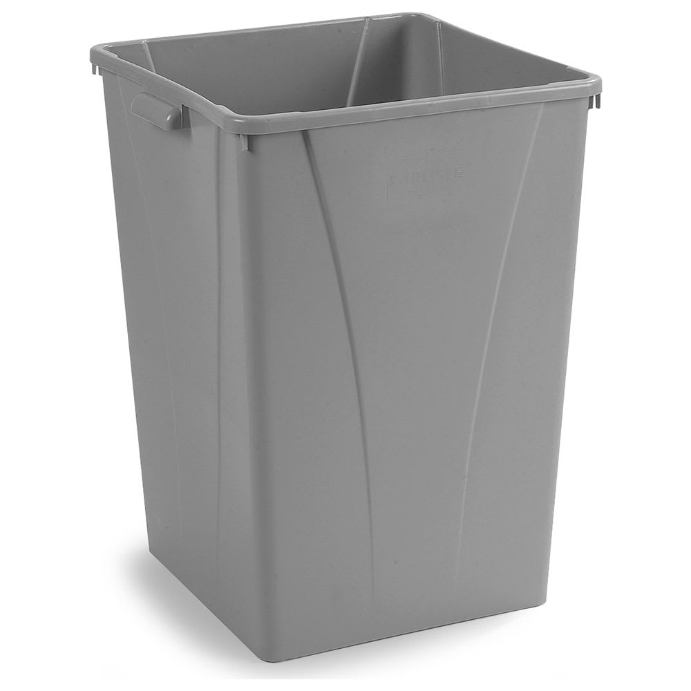 Carlisle 34395023 50-gallon Commercial Trash Can - Plastic, Square, Built-in Handles