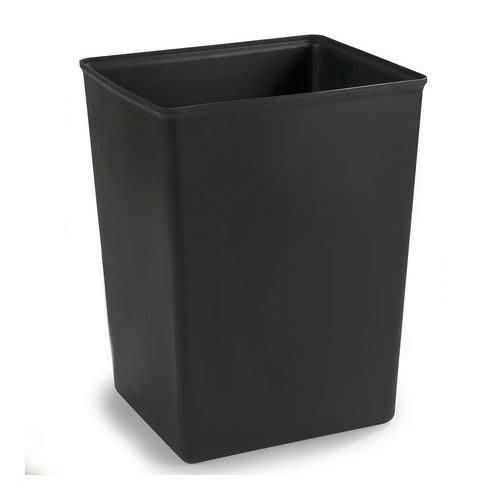Carlisle 344042-03 42-gal Square Rigid Trash Can Liner, Plastic - Black