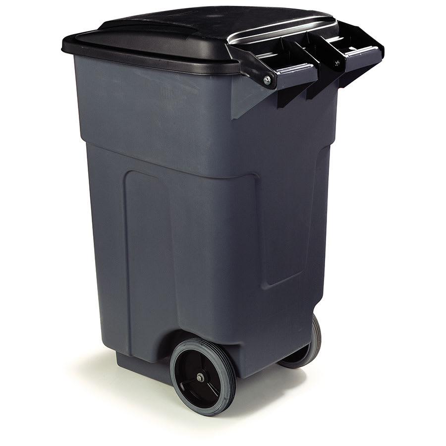 """Carlisle 34505023 50 gal Utility Wheeled Trash Can - 38.25 H x 21 W x 21""""-L, Gray"""