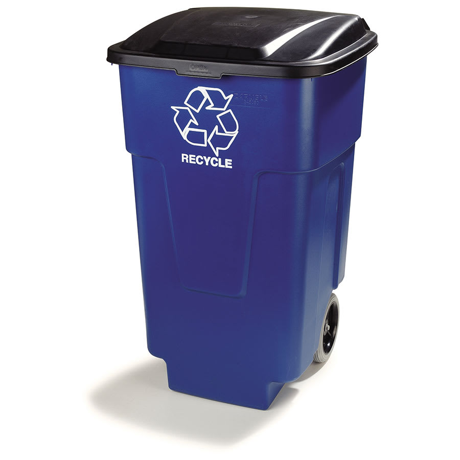 Carlisle 345050REC14 50 gal Multiple Materials Recycle Bin - Indoor, Wheels