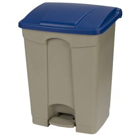 "Carlisle 34614514 18-gal Rectangle Plastic Step Trash Can, 26.38""L x 19.69""W x 15.67""H, Beige"