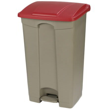 "Carlisle 34614605 23-gal Rectangle Plastic Step Trash Can, 19.69""L x 16.14""W x 32.28""H, Beige"