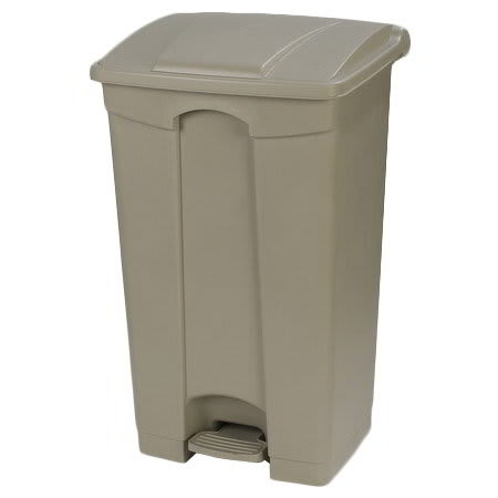 "Carlisle 34614606 23-gal Rectangle Plastic Step Trash Can, 19.69""L x 16.14""W x 32.28""H, Beige"