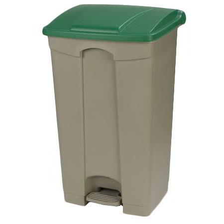 "Carlisle 34614609 23-gal Rectangle Plastic Step Trash Can, 19.69""L x 16.14""W x 32.28""H, Beige"