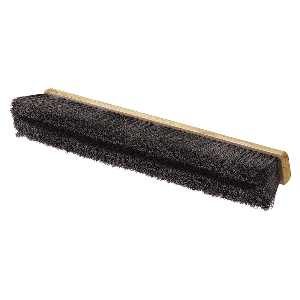 """Carlisle 360241803 18"""" Floor Sweep - Medium, Hardwood Block, 3"""" Black Horsehair/Poly Bristles"""