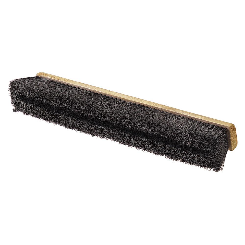 """Carlisle 360242403 24"""" Floor Sweep - Medium, Hardwood Block, 3"""" Black Horsehair/Poly Bristles"""