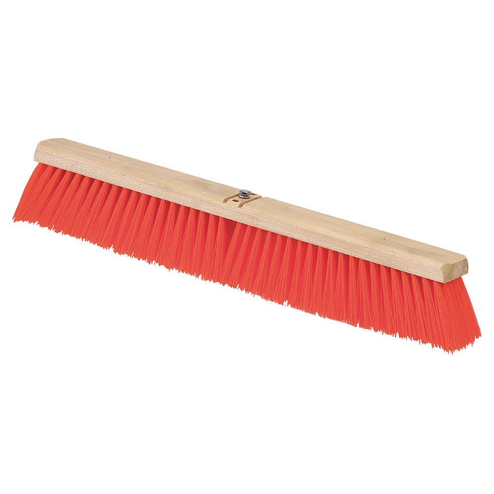"""Carlisle 3610762424 24"""" Juno Floor Sweep - Wood Block, Orange Poly Bristles"""