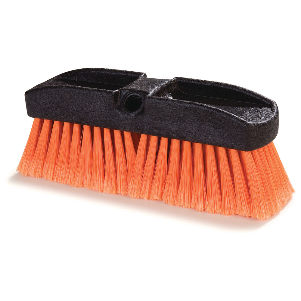 "Carlisle 36122224 10"" Flo-Thru Window Brush - Poly, Orange"