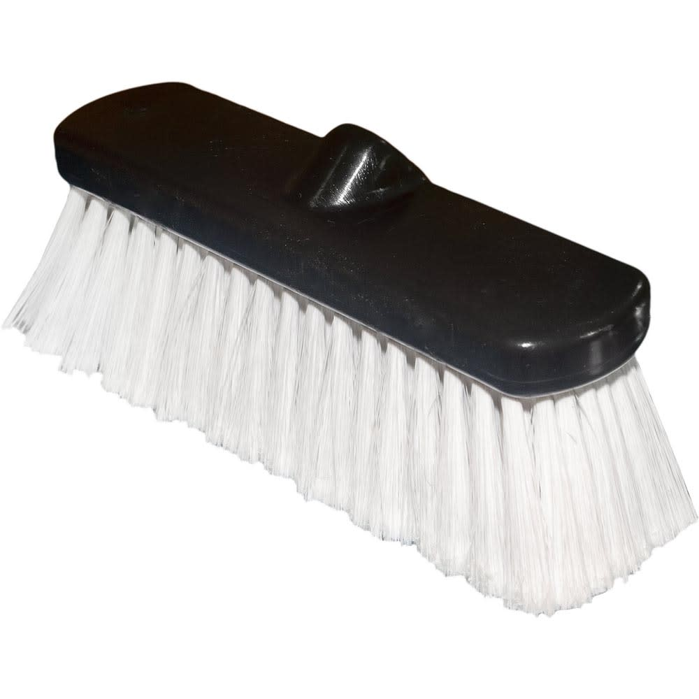 "Carlisle 36123000 10"" Vehicle Wash Brush - Poly/Plastic"