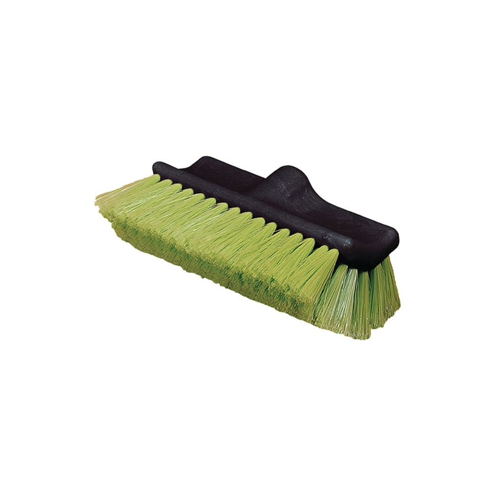 "Carlisle 36129775 10"" Flo-Thru Vehicle Wash Brush - Nylex/Plastic, Green"