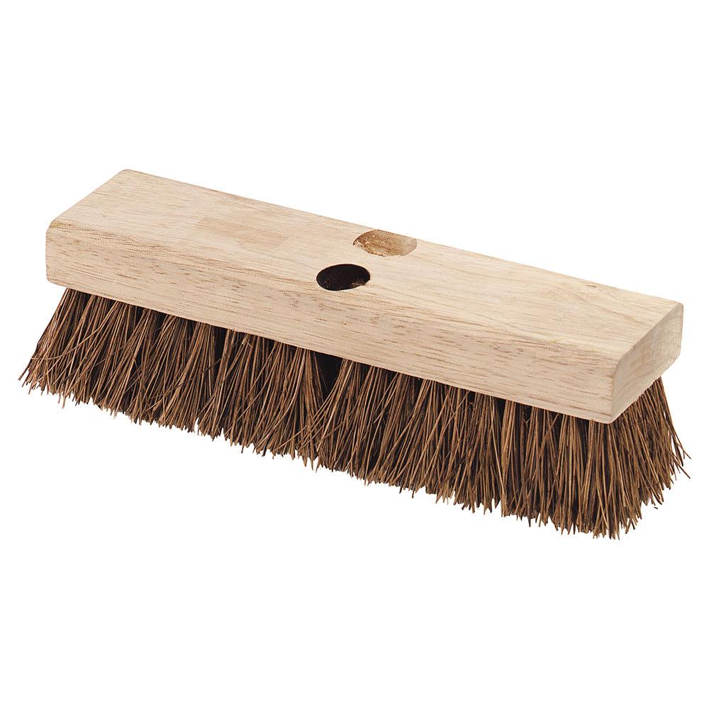 "Carlisle 3619200 10"" Deck Scrub Brush Head - Palmyra/Hardwood"
