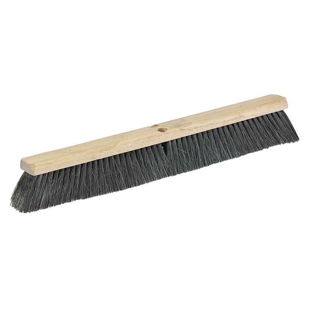"Carlisle 36203603 36"" Floor Sweep - Medium/Fine, Hardwood Block, 3"" Horsehair/Poly Bristles"