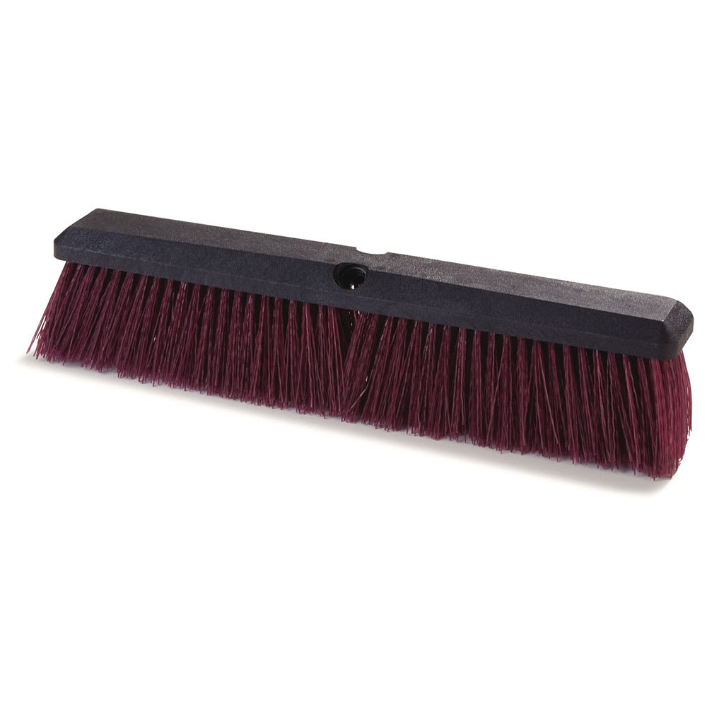 "Carlisle 3620722400 24"" Floor Sweep Head - 18"" Foam Block, Polypropylene, Maroon"