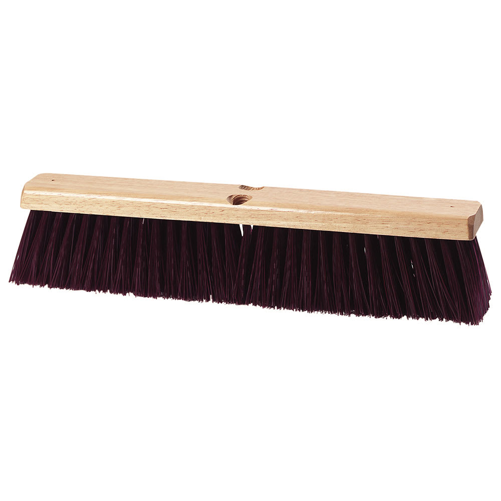 "Carlisle 3621931800 18"" Basic Sweep - Crimped Polypropylene, Maroon"