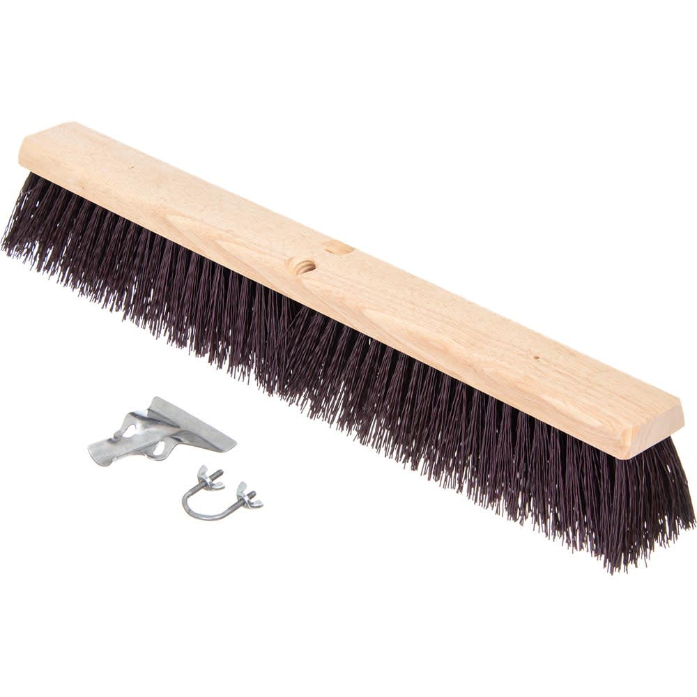 "Carlisle 3621932400 24"" Basic Sweep - Crimped Polypropylene, Maroon"