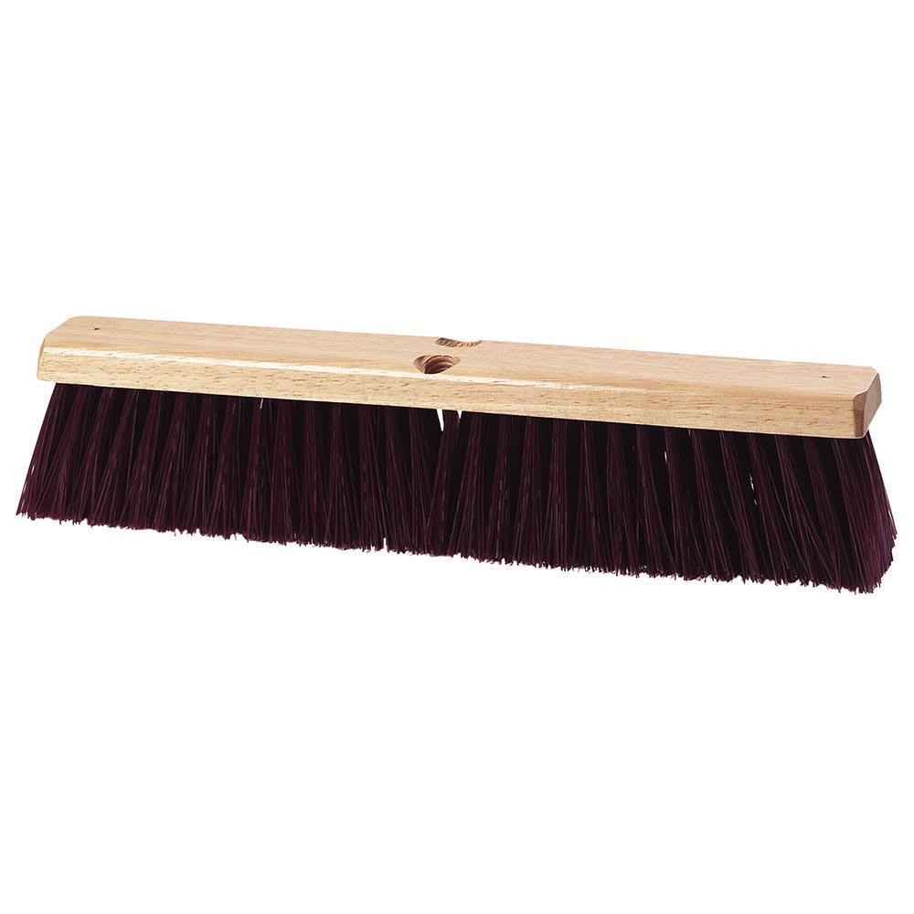 """Carlisle 3621933600 36"""" Basic Sweep - Crimped Polypropylene, Maroon"""