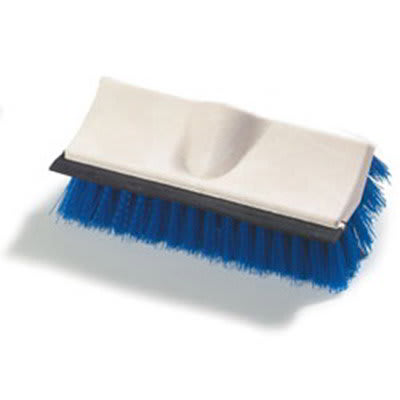 "Carlisle 3621942214 10"" Flo-Thru Brush - Poly, Blue"