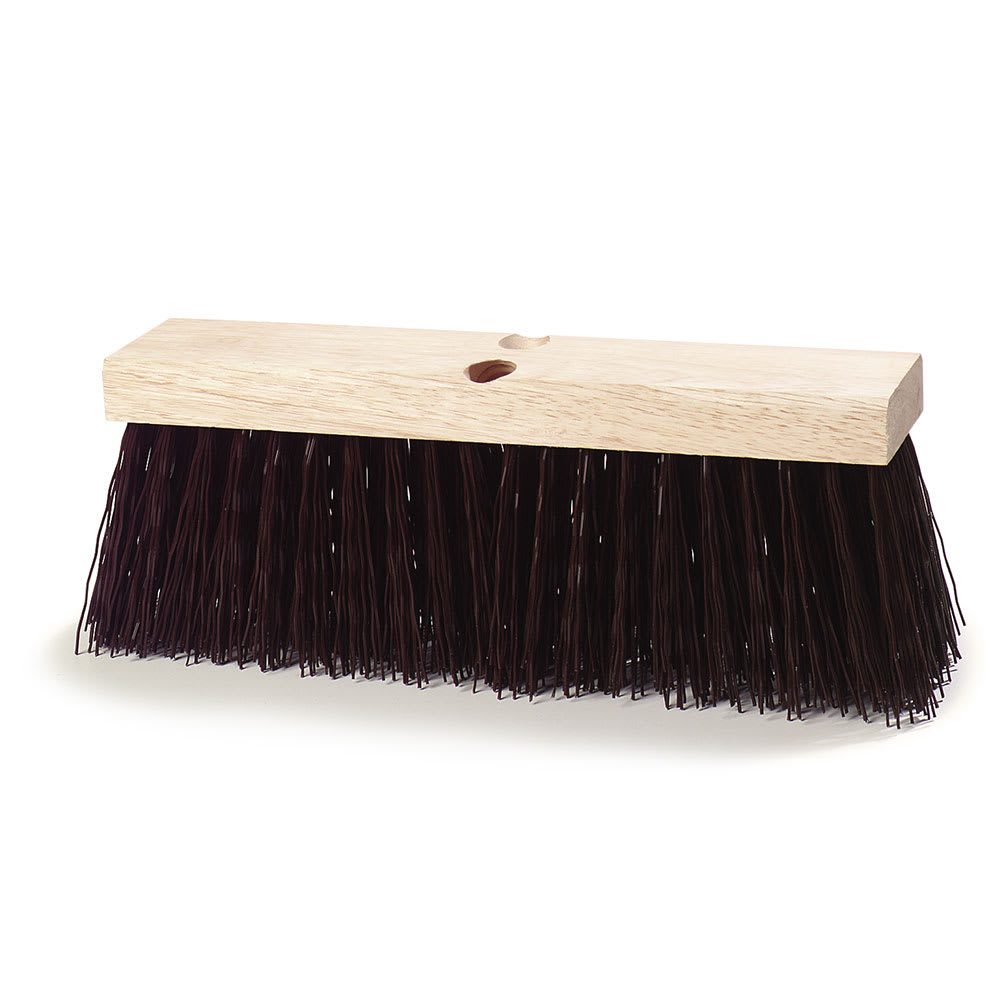 "Carlisle 3621951601 16"" Street Broom - Polypropylene, Brown"