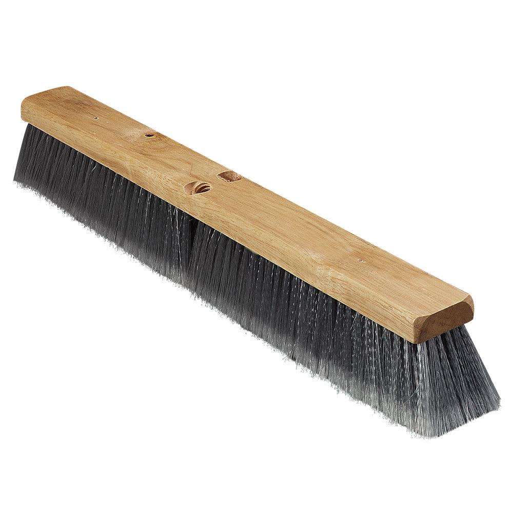 "Carlisle 3621951823 18"" Basic Sweep Floor Brush - Palmyra/Tampico, Gray"