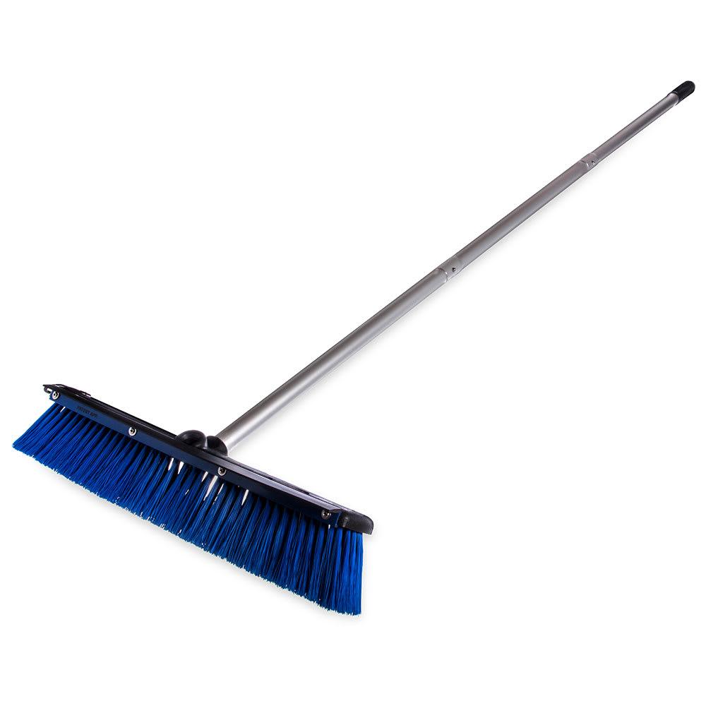 """Carlisle 3621961814 18"""" Floor Sweep with Handle - Plastic Block, Squeegee, Blue"""