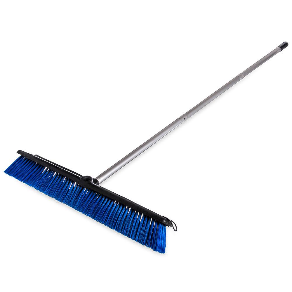 """Carlisle 3621962414 24"""" Floor Sweep with Handle - Plastic Block, Squeegee, Blue"""