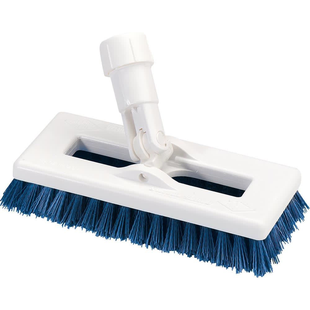"Carlisle 3621966300 8"" Swivel Scrub Floor Brush with Handle - Poly/Plastic"