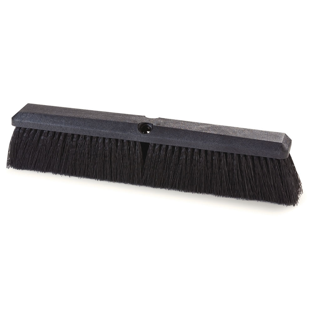 "Carlisle 362208P1803 18"" Floor Sweep Head - Fine/Medium, Foam Block, Black Poly Bristles"