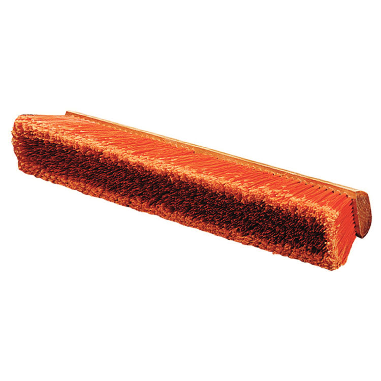"Carlisle 36221824 18"" Floor Sweep - Fine/Medium, Hardwood Block, Orange Poly Bristles"