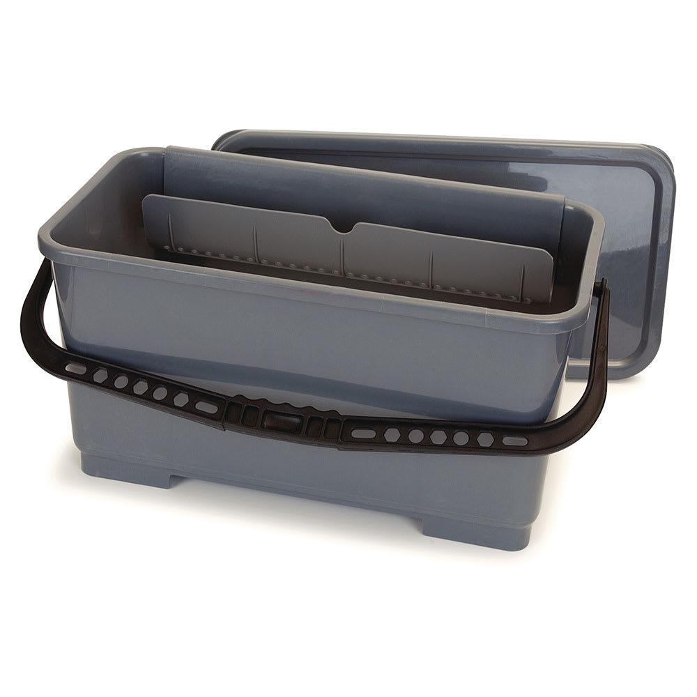 Carlisle 363301923 6 gal Microfiber Squeegee Bucket - Polypropylene, Gray