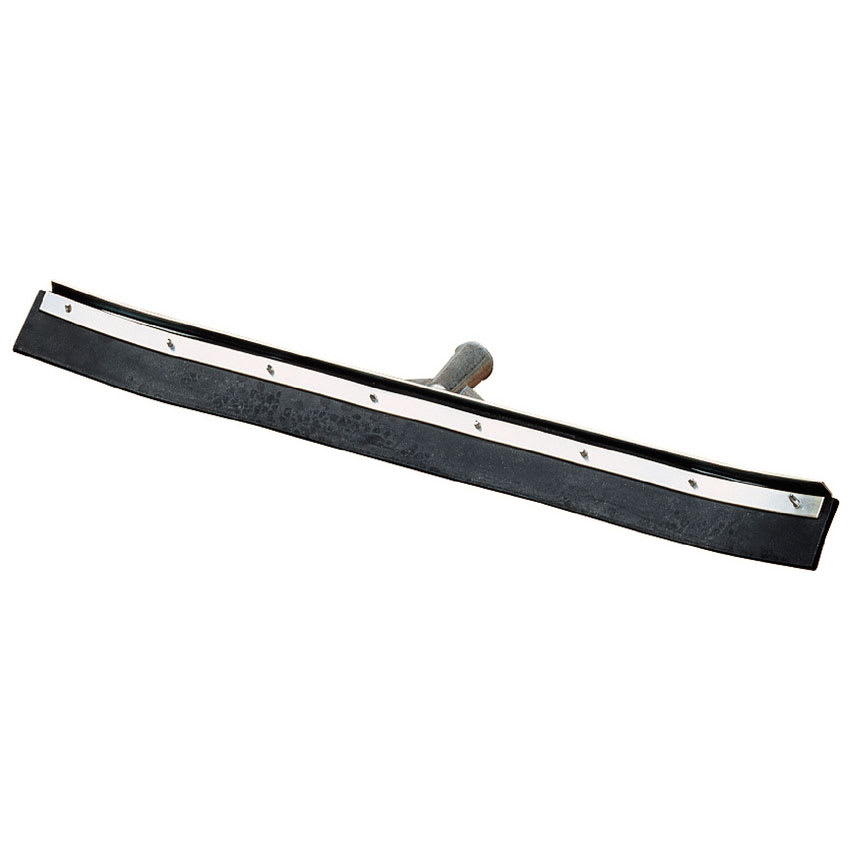 "Carlisle 36336C00 36"" Floor Squeegee Head - Single Rubber Blade, Threaded, Metal Frame"