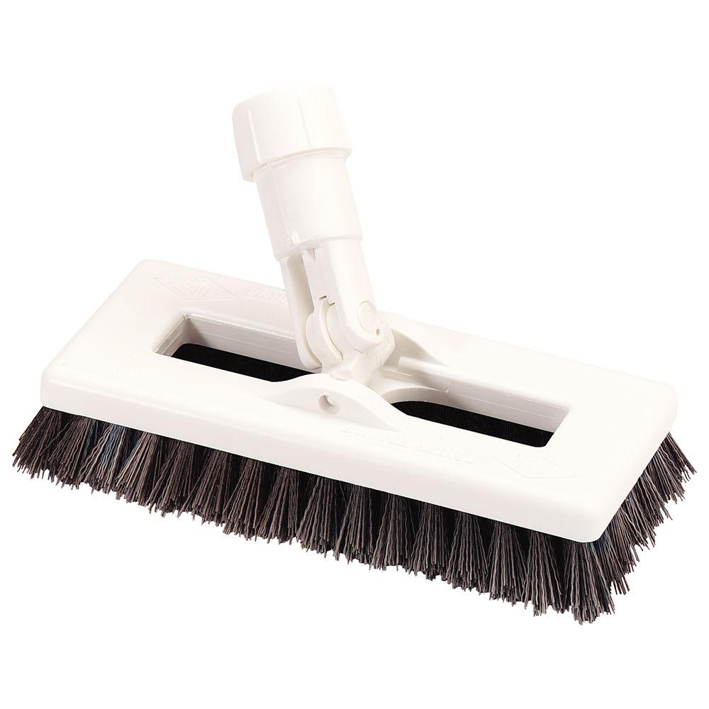 "Carlisle 363883103 8"" Swivel Scrub Floor Brush - Poly, Black"