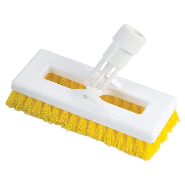 "Carlisle 363883104 8"" Swivel Scrub Floor Brush - Yellow"