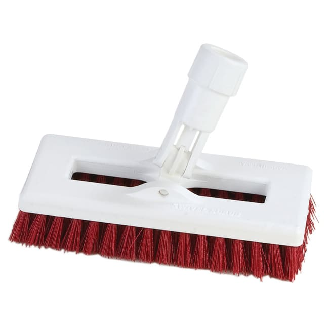 "Carlisle 363883105 8"" Swivel Scrub Floor Brush - Red"