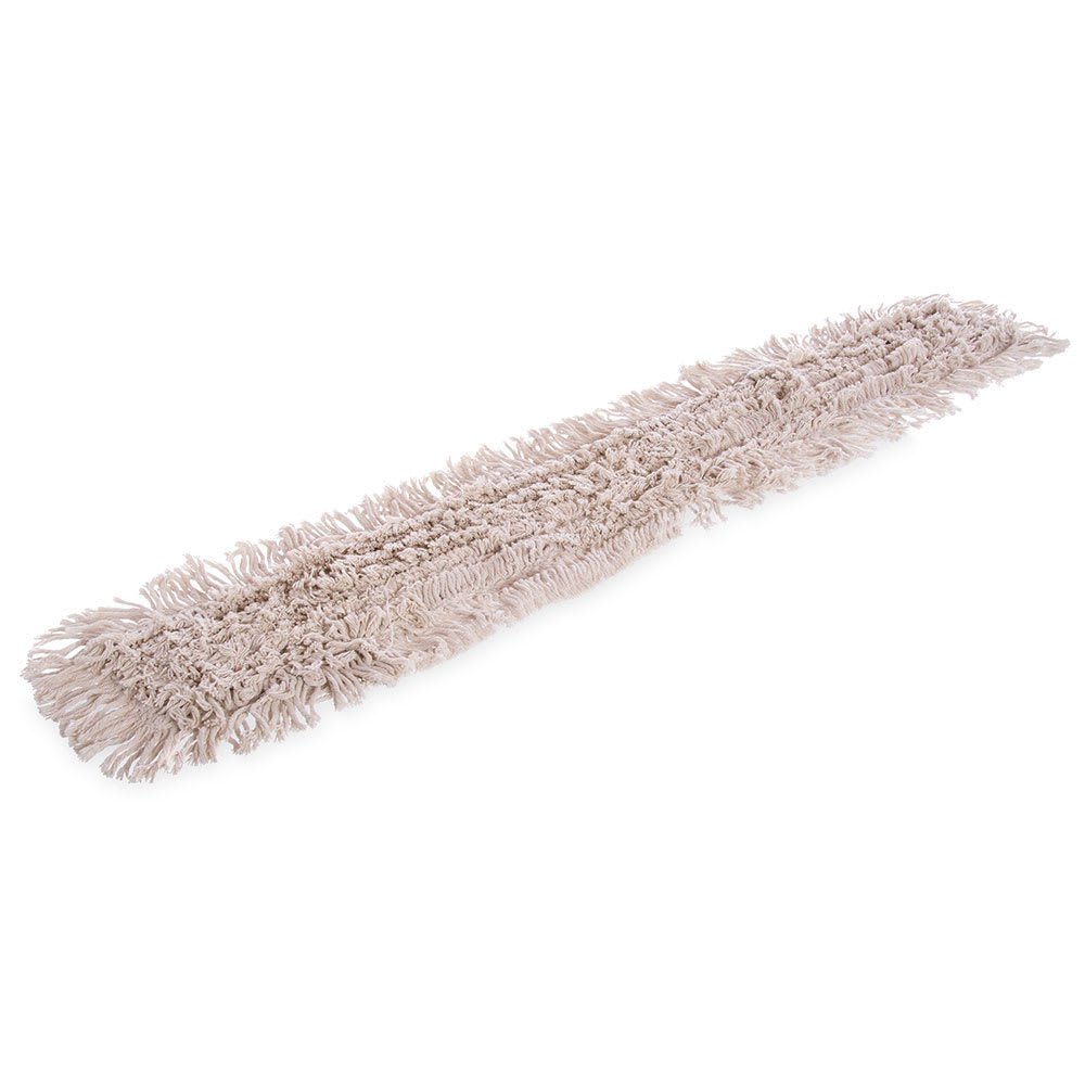"Carlisle 364754800 48"" Flo-Pac® Dust Mop Head Only w/ Cut Ends, White"