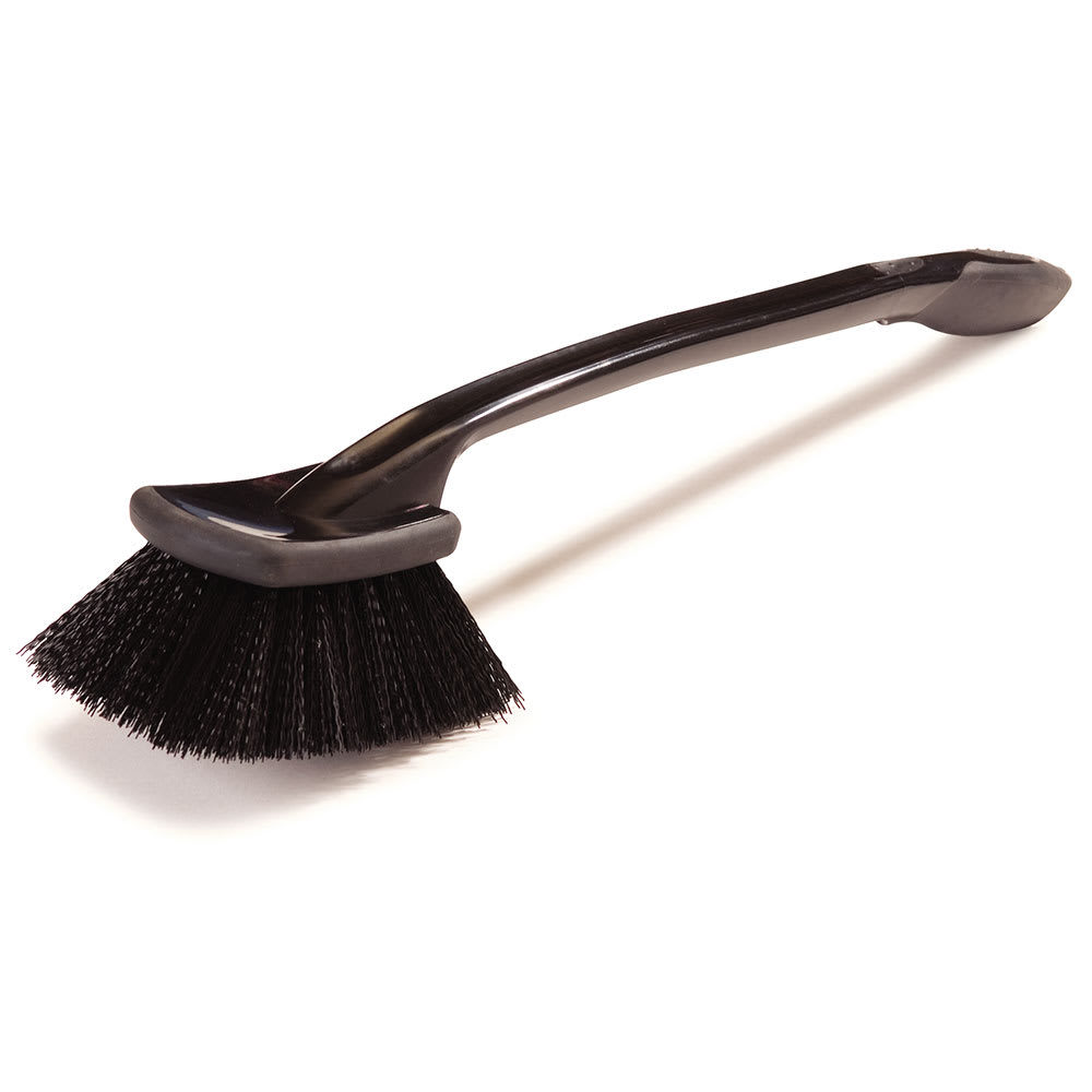 "Carlisle 36506L03 20"" Utility Scrub Brush - Poly/Rubber, Black"