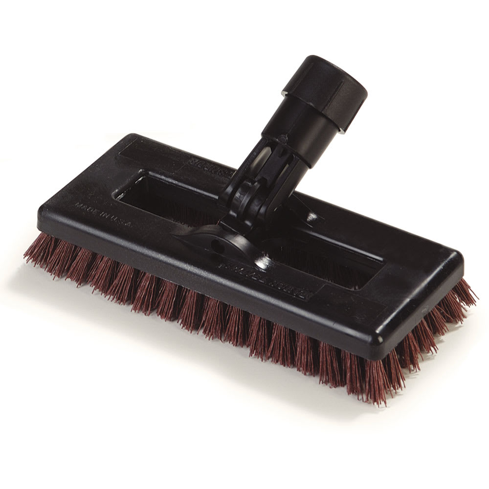 "Carlisle 36531027 8"" Swivel Scrub Floor Brush Head - Nylon/Plastic, Rust"