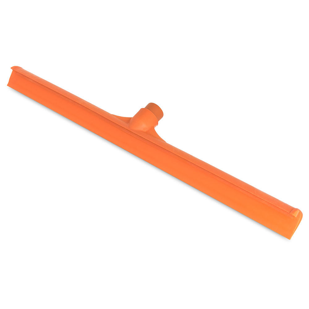 "Carlisle 3656824 24"" Floor Squeegee Head - Straight, Foam Rubber Blade, Orange"