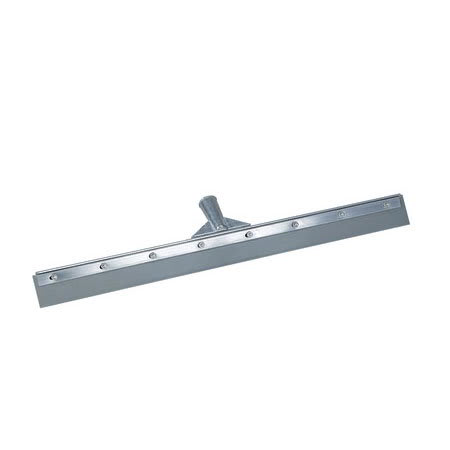 """Carlisle 36602400 24"""" Floor Squeegee - Straight Vinyl Blade, Metal Frame, Gray"""