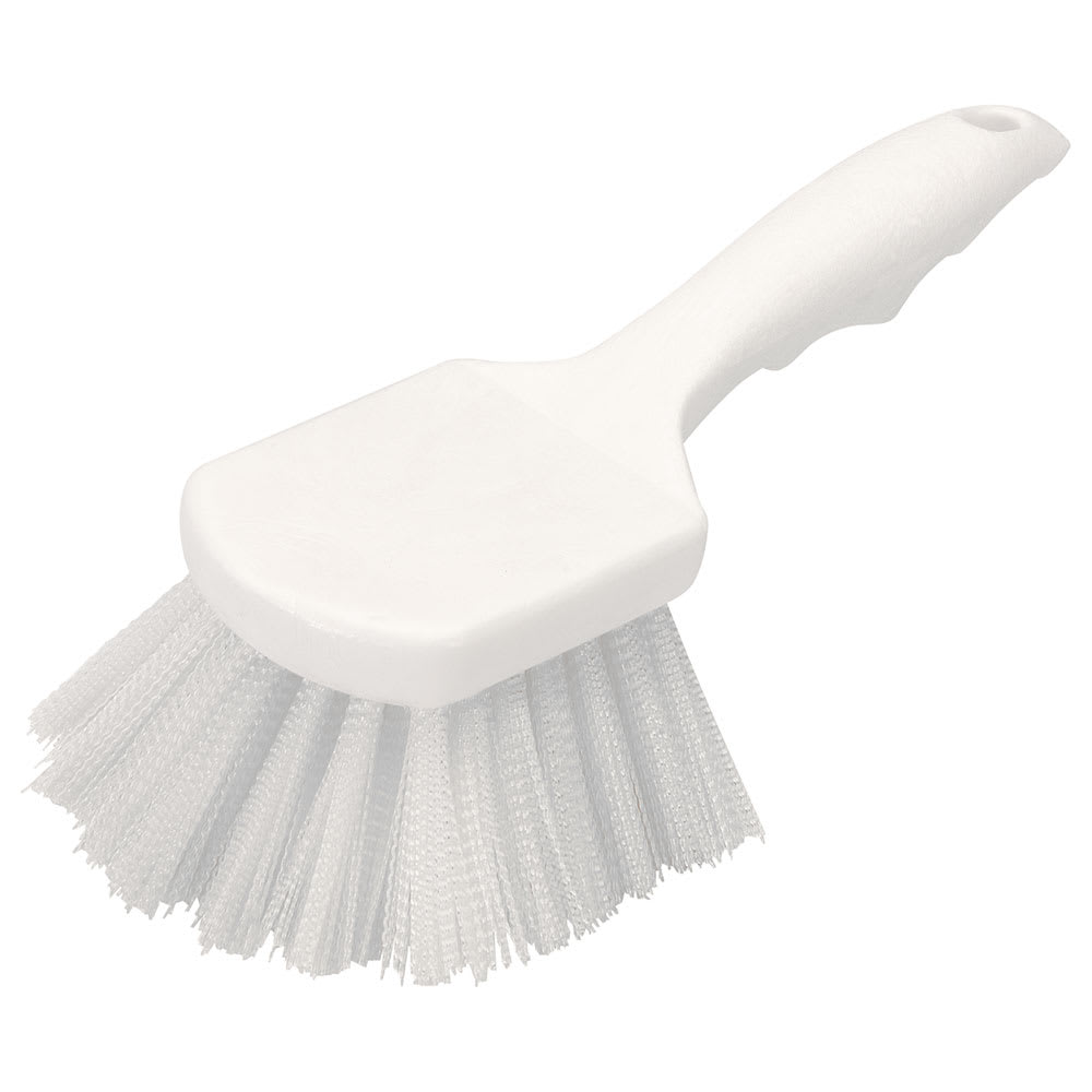 "Carlisle 3662000 8"" Utility Scrub Brush - Nylon/Plastic, White"